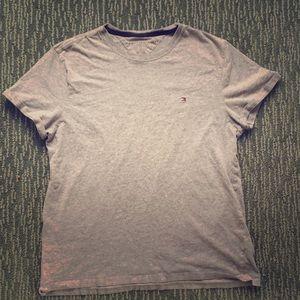 ✅ TOMMY HILFIGER Short Sleeve Tee T Shirt Gray M